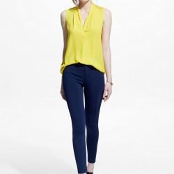 Kolsuz Sarı Mango 2015 Bluz Modelleri