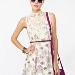 Kolsuz Yeni Sezon Çiçek Desenli Elbise Modelleri