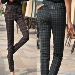 Koyu Renkli Yeni Sezon Ekose Pantolon Modelleri