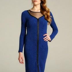 Simli Kumaş Mavi 2015 Elbise Modelleri