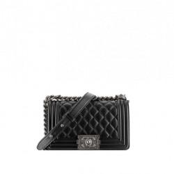 Zincir Detaylı Siyah Çanta Chanel Çanta ve Ayakkabı Modelleri