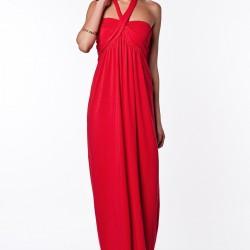 Çapraz Askılı Kırmızı adL 2015 Elbise Modelleri