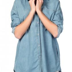Açık Mavi Kot Gömlek Yeni Sezon Yarıcı Modelleri