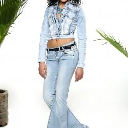 Buz Mavisi İspanyol Paça 2015 Jean Pantolon Modelleri