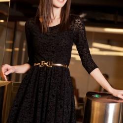 Dantelli Siyah Elbise Olgun Orkun Yeni Sezon Modelleri