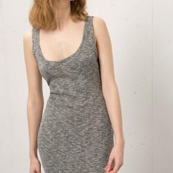 Gri Bershka 2015 Elbise Modelleri