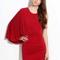 Kırmızı Elbise Max Azria Yeni Sezon Modelleri