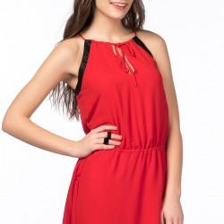Kırmızı Zara 2015 Elbise Modelleri