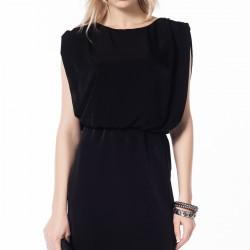 Kolsuz Siyah Mini Zara 2015 Elbise Modelleri