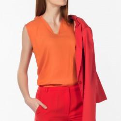 Kolsuz Turuncu Bluz NG Style Yeni Sezon Modelleri