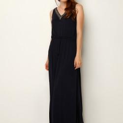 Kolsuz Uzun Siyah Mudo 2015 Elbise Modelleri
