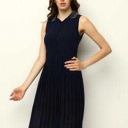 Lacivert Mudo 2015 Elbise Modelleri