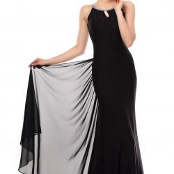 Tül Detaylı Siyah 2015 Mezuniyet Balosu Abiye Modelleri