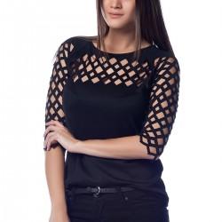 Zarif Siyah Yeni Sezon Bluz Modelleri