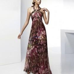 Çiçek Desenli Şifon Elbise Modelleri