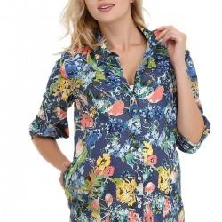 Çiçek Desenli Hamile Bluz Modelleri