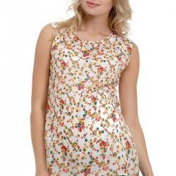 Çiçek Desenli Kolsuz Hamile Bluz Modelleri