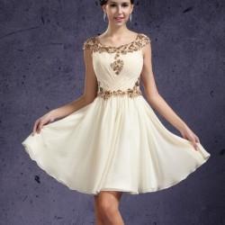 İşlemeli Beyaz 2015 Kloş Elbise Modelleri