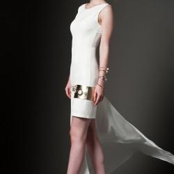 Arkası Uzun Beyaz Vavist Elbise Modelleri