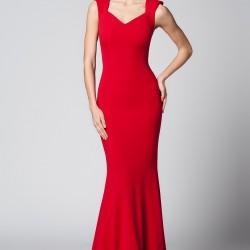 Askılı Kırmızı 2015 Mezuniyet Elbisesi Modelleri
