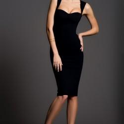 Askılı Siyah İnce Gösteren Elbise Modelleri