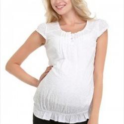 Beyaz Hamile Bluz Modelleri