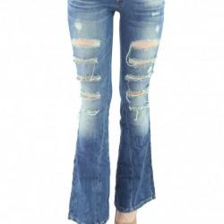 Bol Paça Yırtık Pantolon Modelleri