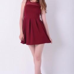 Bordo 2015 Kloş Elbise Modelleri