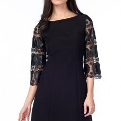 Dantel Detaylı Siyah 2015 Gece Elbisesi Modelleri