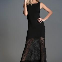 Dantel Detaylı Siyah 2015 Mezuniyet Elbisesi Modelleri