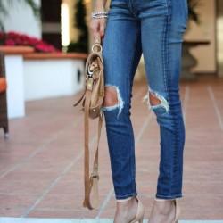 Dizleri Yırtık Kot Pantolon Modelleri