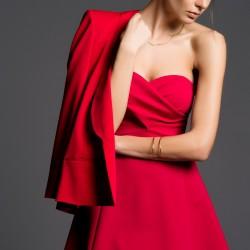 Fuşya Straplez İnce Gösteren Elbise Modelleri