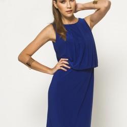 Kolsuz Saks Mavisi Elbise Modelleri