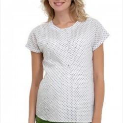 Puantiye Detaylı Hamile Bluz Modelleri