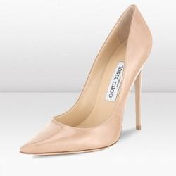 Pudra Rengi Sivri Burun Stiletto Ayakkabı Modelleri