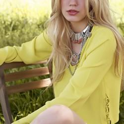 Sarı Dilvin Yazlık Bluz Modelleri