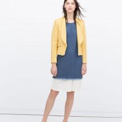 Sarı Zara 2015 Ceket Modelleri