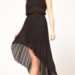 Siyah 2015 Asimetrik Kesim Elbise Modelleri