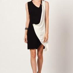 Siyah Beyaz 2015 Gece Elbisesi Modelleri