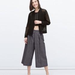 Siyah Transparan Zara 2015 Ceket Modelleri