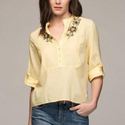 Çiçek Desenli Sarı adL 2015 Bluz Modelleri