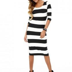 Çizgili Bayram İçin Elbise Modelleri