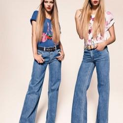 Açık Mavi Kot 2015 İspanyol Paça Pantolon Modelleri