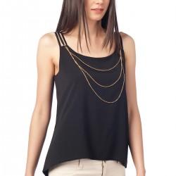 Askılı Siyah Olgun Orkun Bluz Modelleri