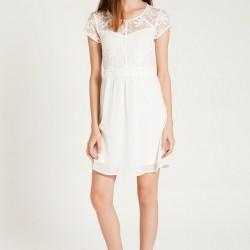 Beyaz Dantelli Vero Moda 2015 Elbise Modelleri