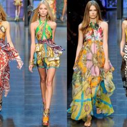 Boyun Askılı Etnik Desenli Elbise Modelleri