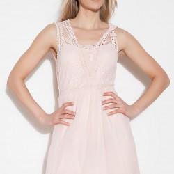 Dantel Detaylı Bej Vero Moda 2015 Elbise Modelleri
