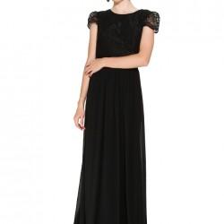 Dantelli Siyah Bayram İçin Elbise Modelleri