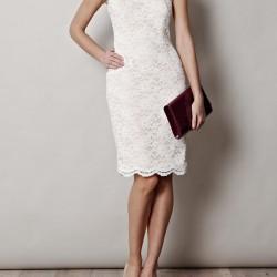 Güpür Detaylı 2015 Beyaz Elbise Modelleri