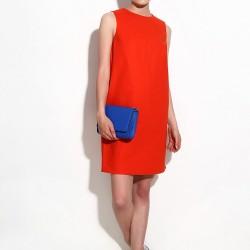 Kiremit Rengi Bayram İçin Elbise Modelleri